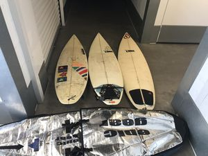 3 used Surfboards and bag for Sale in San Diego, CA