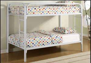 Twin Over Twin Size Bunk Bed S484 for Sale in St. Louis, MO