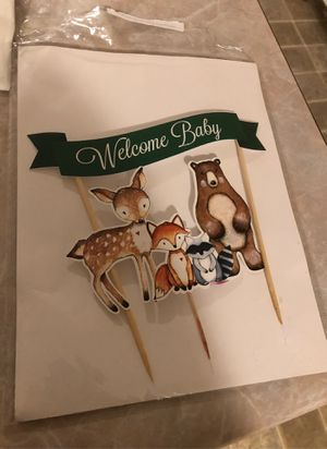 Baby shower cake topper woodlands for Sale in Stone Mountain, GA