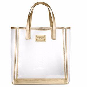 MICHAEL KORS Clear/Gold Bag plus matching Victoria's Secret clutch for Sale in Washington, DC
