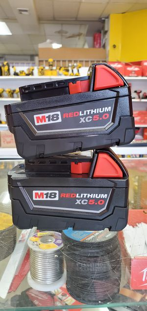 Milwaukee 2 Batteries 5.0 NEW!! for Sale in Chicago, IL