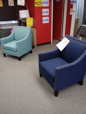 Navy and Celadon Accent Chairs $199 each for Sale in Greensboro, NC