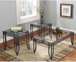 3 Piece Glass Coffee Table and Two End Tables for Sale in Fairfax, VA