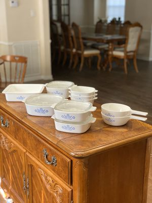 14 Piece 1970s Corning Ware dish set for Sale in Tomball, TX