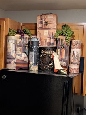 Wine Holder and allso storage containers as well as a nice decor! for Sale in Burien, WA