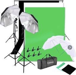 New Photo Studio Photography Lighting Kit And Backdrop Set for Sale in Cape Coral,  FL