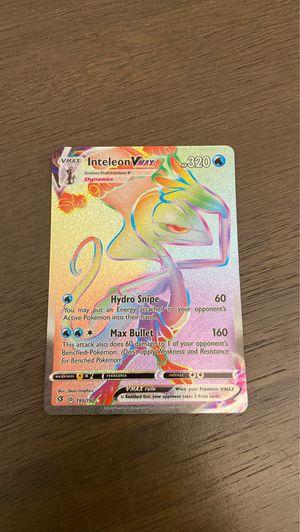 INTELEON VMAX Pokémon card for Sale in Clark, NJ
