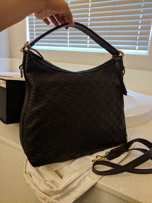 AUTHENTIC GUCCI Guccissima Brown Leather Miss GG Original Hobo Bag in EXCELLENT CONDITION for Sale in Las Vegas, NV