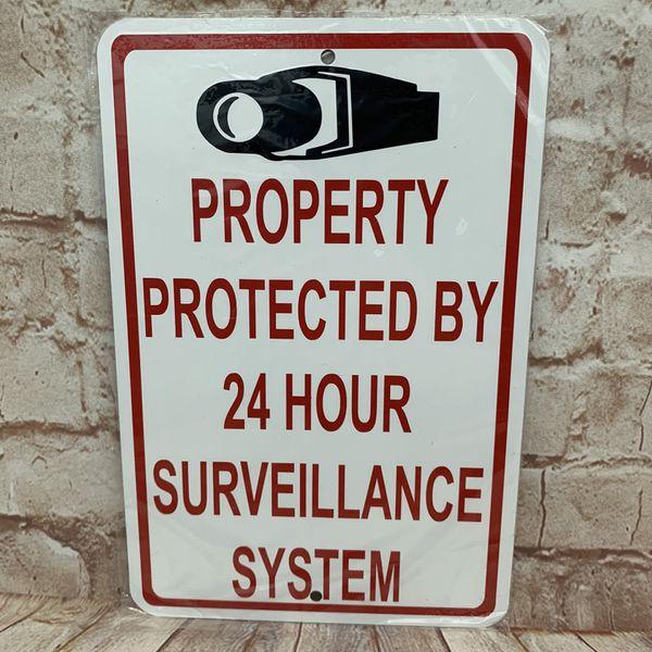 """Security Camera Metal Sign 6""""x9"""" (New)"""