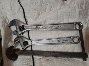LOT OF (3) ADJUSTABLE WRENCHES (CRESCENT, WILLIAMS RIGID) for Sale in Spout Spring, VA