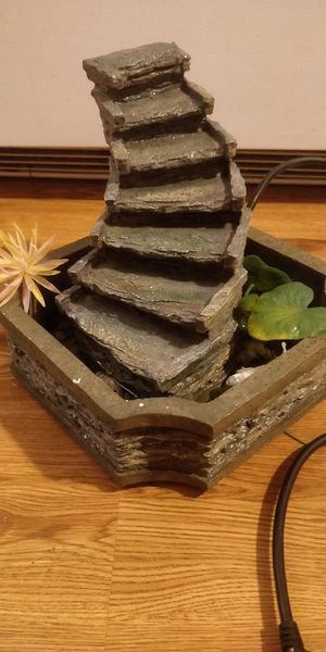 Water ladder fountain, 9 inch tall, 10 width, Turn your desk or table into a tranquil spot with this ladder fountain. for Sale in Chicago, IL