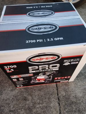 Pressure Washer SIMPSON 3,700 PSI, 2.5 GPM Motor HONDA Brand New for Sale in Bellaire, TX