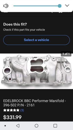 Edelbrock intake manifild for Sale in Santa Ana, CA