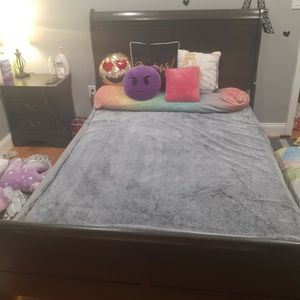 Full Sized Headboard and Footboard With Nightstand for Sale in Dedham, MA