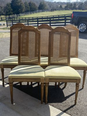 Set a five antique cane chairs –good condition for Sale in Warrenton, VA