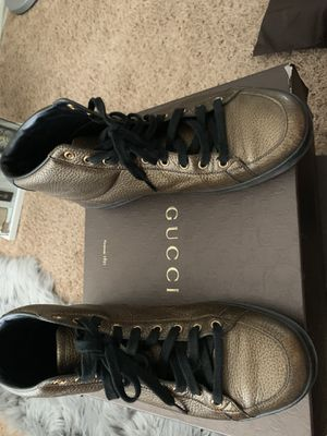Gucci men bronze shoes ***Low offers will automatically be bypassed*** for Sale in Moreno Valley, CA