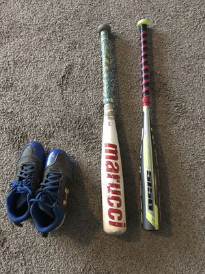 Rawlings Baseball Bat and Cleats (Marucci Is SOLD) for Sale in Atlanta, GA