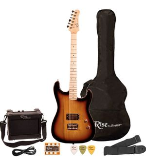 Rise by Sawtooth ST-RISE-ST-SB-KIT-1 Electric Guitar Pack, Sunburst for Sale in Las Vegas, NV