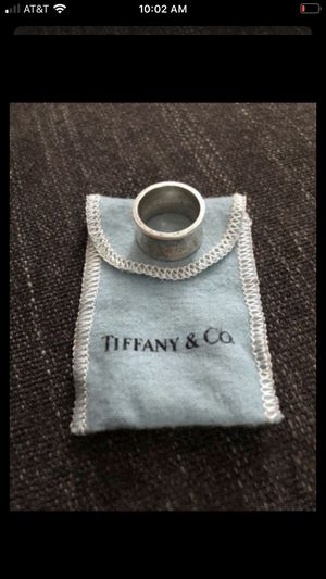 925 Tiffany &Co 1837 wide band ring- size 6.5 for Sale in Hayward, CA