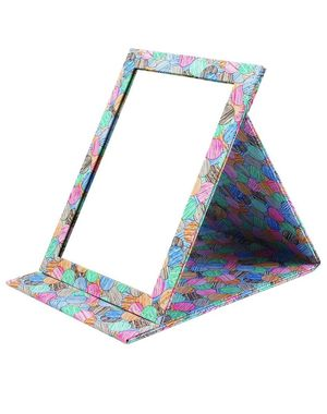 Folding Travel Vanity Mirror with Desktop Standing Makeup Mirror for Cosmetics Personal Beauty Portable Mirrors (Colourful) for Sale in San Diego, CA