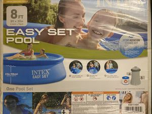 """Intex 8' x 30"""" Easy Set Pool (Piscina) with Filter Pump for Sale in Silver Spring, MD"""