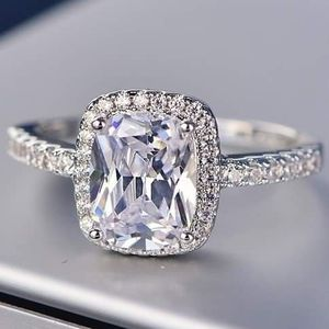 (FREE SHIPPING) Brand New Engagement Ring Set Silver Sapphire Diamond Woman's Jewelry Wedding Band for Sale in Nashville, TN