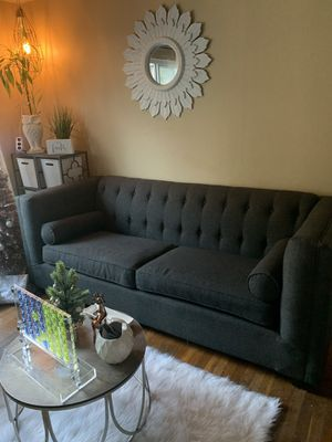 2 Dark Grey tufted couches for Sale in San Leandro, CA