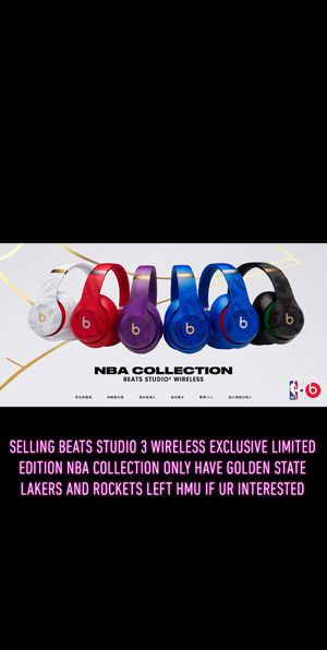 Brand new beats studio 3 wireless in box factory seled limited edition nba collection for Sale in Los Angeles, CA