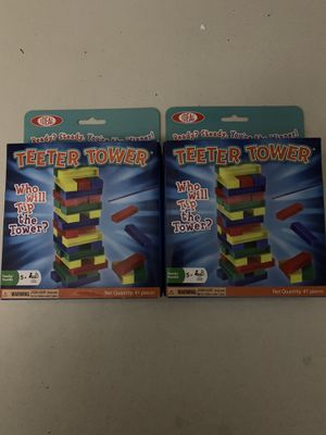 IDEAL Toy Co. Teeter Tower Kids Game Plastic Jenga Lot Of 2 for Sale in Gaithersburg, MD