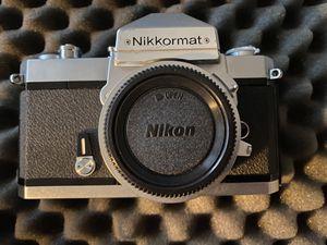 Nikon Nikkormat FT2 Silver and Nikkormat FT N Black vintage 35mm film slr cameras w Nikkor SC 50mm f1.4 and Nikkor ZOOM 43-86mm f3.5 for Sale in Whittier, CA