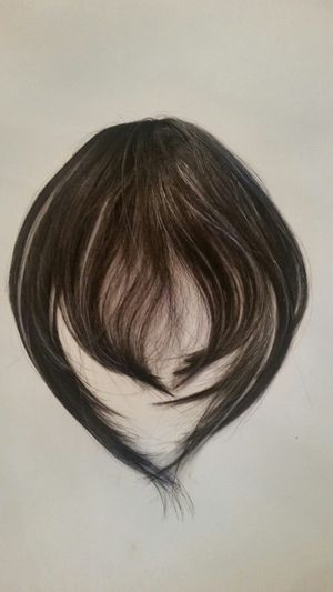 Hair Bangs Extension ( black with silver streak) for Sale in Downey, CA