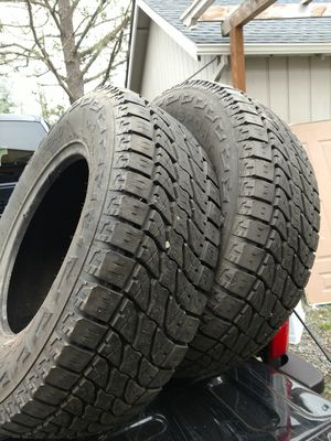 5   used 265/70 R17  10 ply truck tires 2 used  235/80 R 16 trailer tires. With heavy duty steel rims for Sale in Molalla, OR