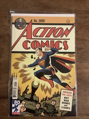 Action Comic Vol#2 1000 Cover C Comic Book for Sale in Keizer, OR