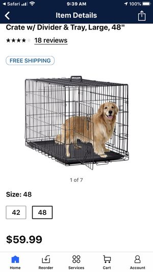 Large dog crate for Sale in Lexington, NC