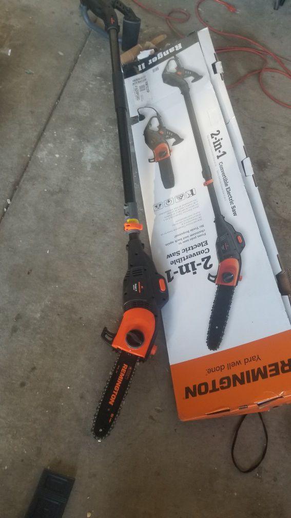 New Remington pole saw electric $75 cash