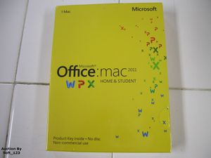 Office Mac Home & Student 2011 - 1MAC/1User (Key Card Version) BRAND NEW - SEALED for Sale in San Diego, CA