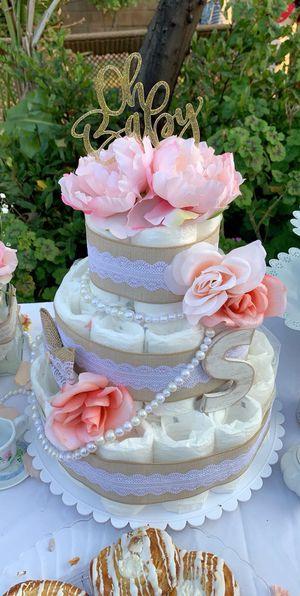 Vintage Diaper Cake- Girl Baby Shower for Sale in Whittier, CA