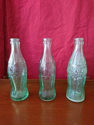 2 Antique Coke Bottles - no chips/cracks for Sale in Las Vegas, NV