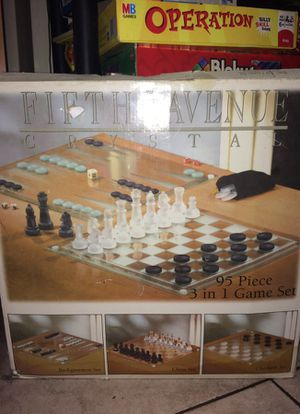 Vintage Glass Board Game Collectable for Sale in Jersey City, NJ