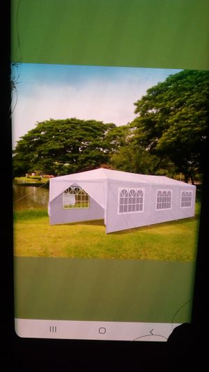 White canopy wedding party tent with side walls 10 x 30 for Sale in Compton, CA