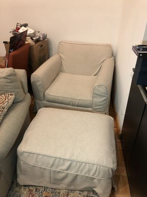 Club Chair With Ottoman (with custom slip cover included) for Sale in New York, NY