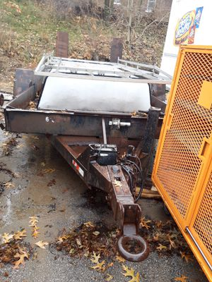 Bobcat trailer and 8 lugs all metal 16 inch tires diamond plate floor heavy duty 1600 Best offer call me at {contact info removed} for Sale in Lansing, IL