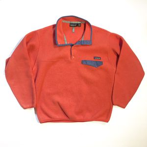Patagonia Synchilla Snap T Fleece Pullover Jacket Red Purple Mens Size Medium for Sale in San Antonio, TX