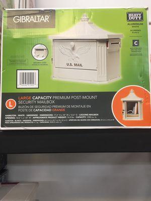 New Gibraltar Large Capacity Post mount locking mailbox for Sale in Mesa, AZ
