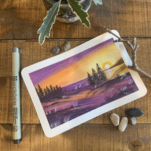 Original watercolor art + postcard Perfect for gifts during the holiday season Perfect Christmas gifts for Sale in Medford, MA