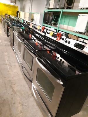 FROM $199.00 & UP STAINLESS STEEL ELECTRIC STOVE WORKING PERFECTLY 4 MONTHS WARRANTY for Sale in Baltimore, MD