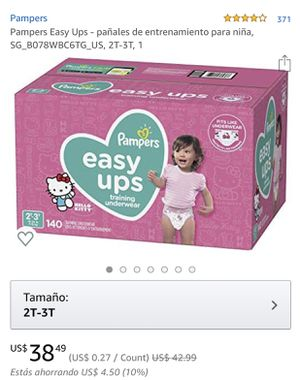 Pampers easy ups 140 & Huggies pull-Ups 124 (2T-3T). .... 2x 55 dólares for Sale in Rodeo, CA