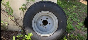 Excellent condition 10 inch trailer tire with 5 lug rim for Sale in Hollywood, FL