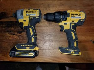 Dewalt 20v brushless drill and driver and 1 battery for Sale in Haverhill, MA