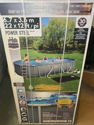 Brand new sealed 22 x 12 48 inches deep pool for Sale in Fontana, CA